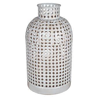 Kleine Metall Rohr Webb Vase Dekor