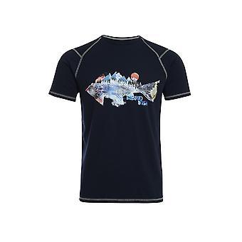 Paros Printed Bamboo T-Shirt Turmeric