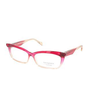 Face A Face Eyeglasses Frame EBONY 2 Col. 694 Acetate Transparent Rapberry Cream