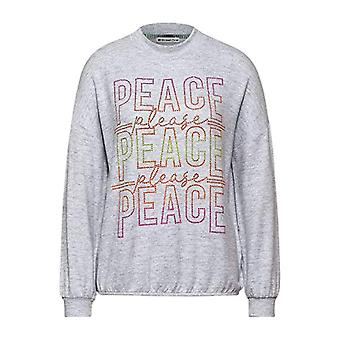 Calle Uno 315834 Camiseta, Gris Cielo Melange, 36 Mujer