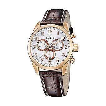 Men's Quartz Chronograph Watch with Leather Strap C4409/1