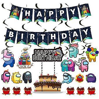 אביזרים למסיבת יום הולדת, כרזה באנטינג, סט קישוטי יום הולדת
