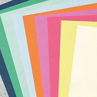 10 Assorted Sheets of A4 Fashion Coloured Craft Felt - 1mm Thick
