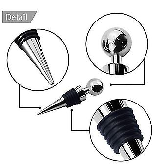 Stainless Steel Wine And Beverage Bottle Stoppers Ball Designed Corks