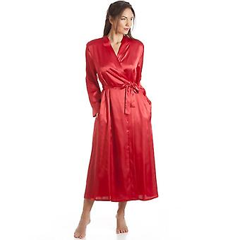 Camille Womens Damer Luxury Red Satin Wrap