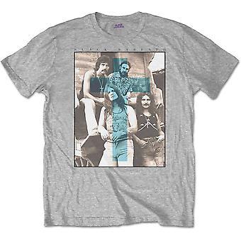 Black Sabbath - Blue Cross Unisex Piccola T-Shirt - Grigio