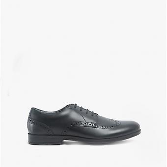Start-Rite Brogue Pri Girls Leather Lace Up School Shoes Black