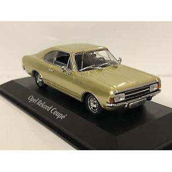 Maxichamps 940046120 1966 Opel Rekord C Coupe Gold 1:43 Scale