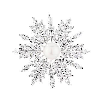 Exquisite Brosche Pin Blatt Corsage Legierung Damen Brosche Silber