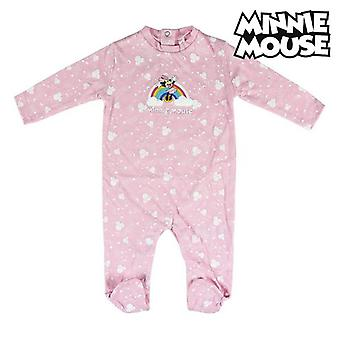 Baby's romperpak met lange mouwen Minnie Mouse Pink