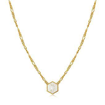 أنيا هاي البوصلة شعار الذهب فيغارو سلسلة قلادة N030-04G