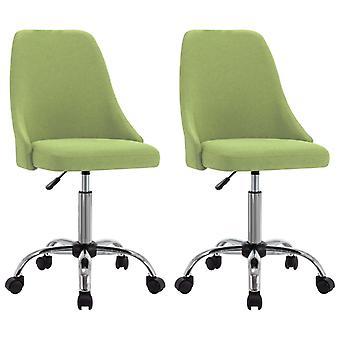 vidaXL مكتب الكراسي 2 PCS. النسيج الأخضر