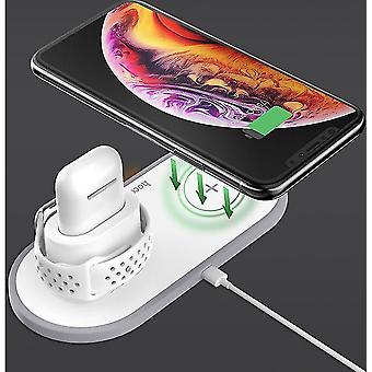 Almofada de carregador sem fio para iPhone 11 Pro XS Max XR para Apple Watch 4 3 2 Airpods Carregadores rápidos de 10W