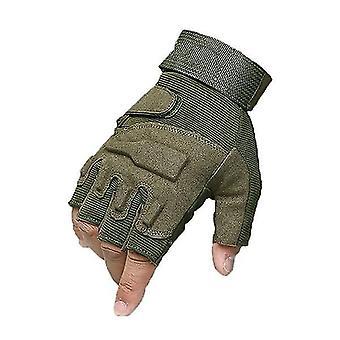 قفازات نصف الاصبع في الهواء الطلق قفازات تكتيكية الجيش الحماية العسكرية هارد مفاصل جير