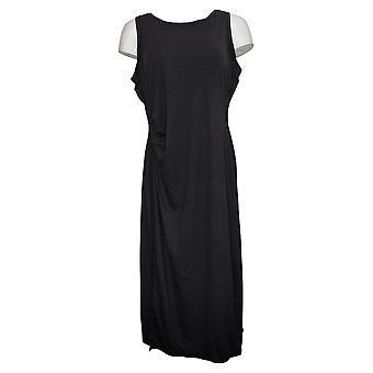 zuda Women's Dress Petite Solid Tank Polyester Black A377789