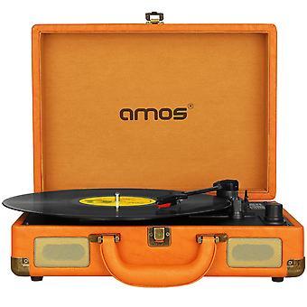 AMOS walizka Record Player (Vintage brązowy)