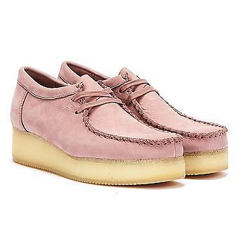 Clarks Wallacraft Lo Nubuck Womens Light Pink Shoes