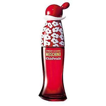 Moschino barato e chique pétalas chiques eau de spray de toilette 50ml