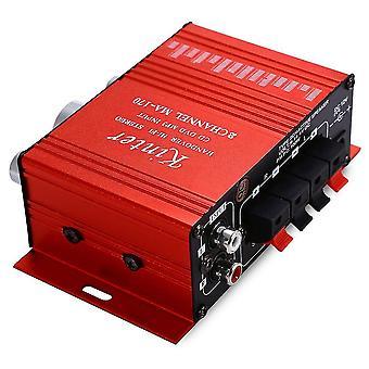 Kinter MA-170 Mini 12V 20W Hi-Fi Stereo Verstärker Booster DVD MP3 Lautsprecher