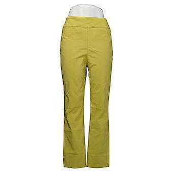 MarlaWynne Women's Pants Stretch Twill FLATTERfit With Slit Green 646478