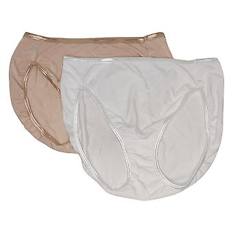 Vanity Fair Women's Panties (XXL) 2-pack Hi-Cut Panty Beige/White 704124