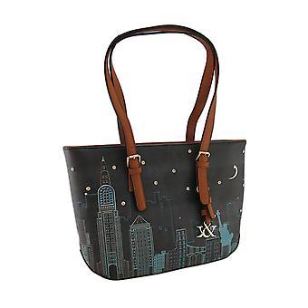 Красочные Cityscape сцены текстурированной Винил сумка
