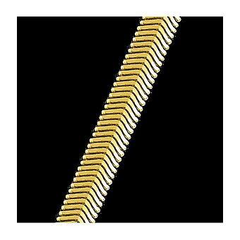 Jacques Lemans - Cadena de espiga chapada en oro plata Ø6,5x2 mm 47 cm SE-K133B47