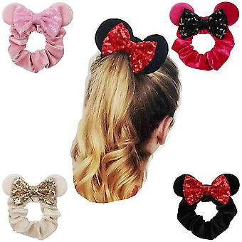 Pieces-4 Beautiful Bow Velvet Fashion Hair Accessory For Girls