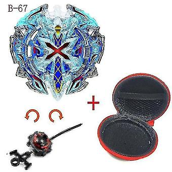 Spinning tops 5 beyblade burst sparking turbo b48 launcher  metal top gyro blade blade spinning fight toys b67