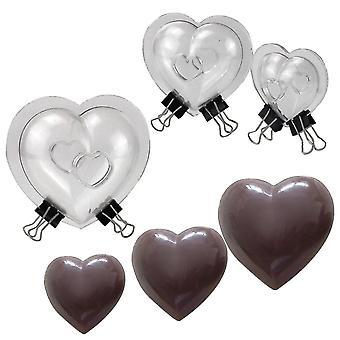 Cake pans molds cake pans molds 3 prece diy cake 3d heart chocolate mold