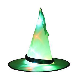 Halloween hatun juhla koristelu rekvisiitta led hehkuva noita, taikuri, noita hattu