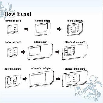 4 In 1 Hyvälaatuinen Yleinen SIM-kortti adapterisarja iphone 4 5 ipadille