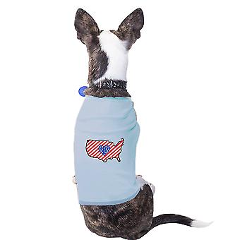 Bandeira americana EUA mapa exclusivo patrióticos presentes para pequenos proprietários do animal de estimação