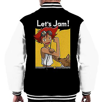 Jamming With Edward Cowboy Bebop Men's Varsity Jacket