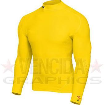 BAJO armadura Gales rugby coldgear burlarse de niños [amarillo]