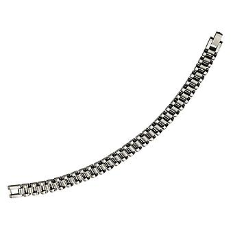 Stainless Steel Mens Brushed and Polished Bracelet 8.5 Inches