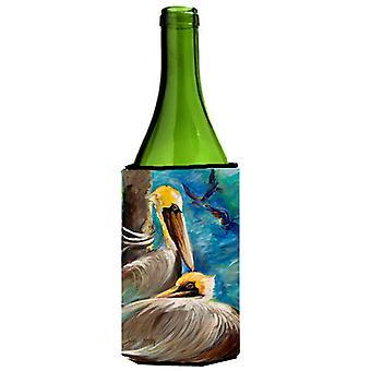 Pelícanos recordando vino botella bebida aislador Hugger