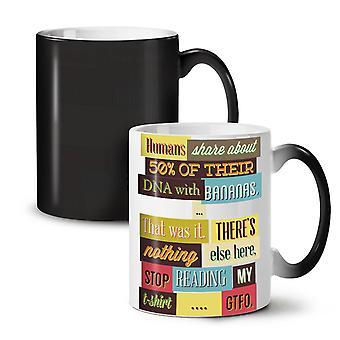 DNA Bananas GTFO Funny NEW Black Colour Changing Tea Coffee Ceramic Mug 11 oz | Wellcoda