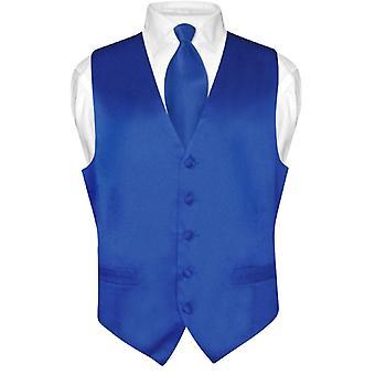 Biagio hommes veste robe de soie & cravate cravate solide Set
