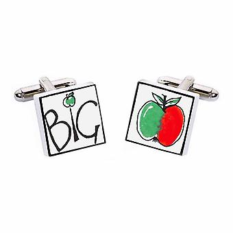 Big Apple Cufflinks by Sonia Spencer, in Presentation Gift Box. New York