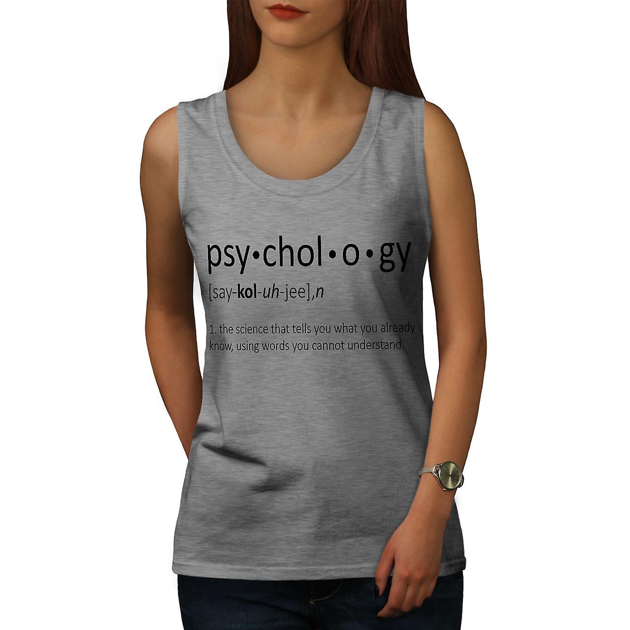 Psychologie Science femmes GreyTank Top | Wellcoda