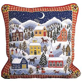 Winter Village Needlepoint Canvas