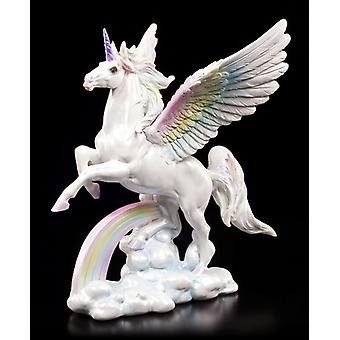 Estatuilla de unicornio volador