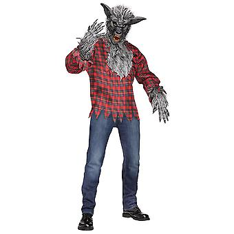 Werewolf Wolf Man Grey Wolf Halloween Men Costume One Size