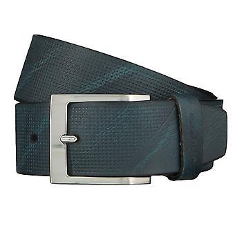 OTTO KERN belts men's belts leather belt Navy/Blue 4475