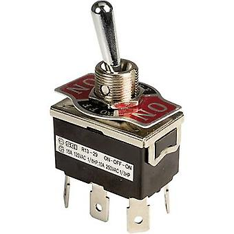 SCI R13-29E-01-HPH Toggle switch 250 V AC 10 A 2 x On/Off/On latch 1 pc(s)