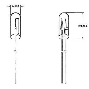 21616500 Lâmpada de uso especial Clear T1 1/4 WT 16 V 50 mA 1 Conjunto