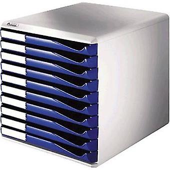 Leitz escritorio cajón caja 5281-00-35 azul no. de compartimentos: 10