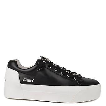 Ash Footwear Buzz Black Leather Platform Trainer