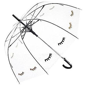 Gerade klare Regenschirm (verschlafenen Augen)